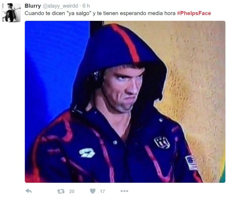 PhelpsFace cuando te dicen ya salgo