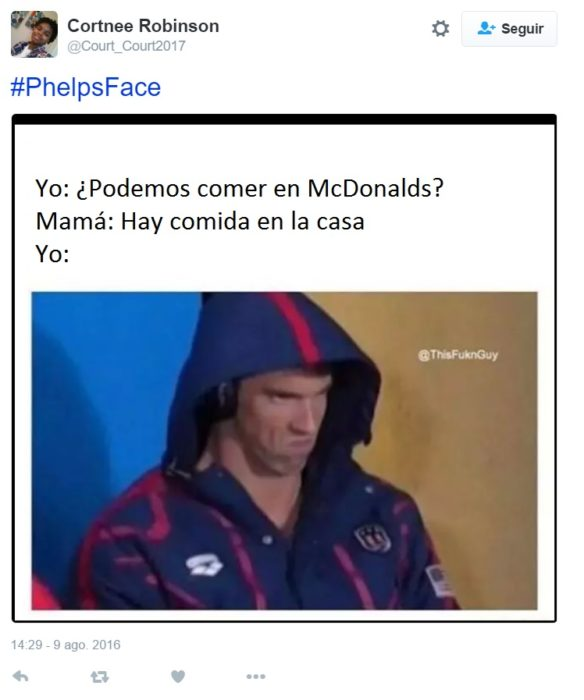 PhelpsFace. Podemos comer en mcdonalds