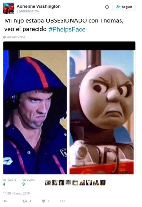 PhelpsFace. COmo thomas el tren
