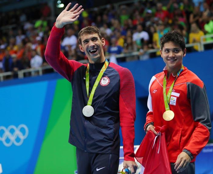 Juegos Olímpicos Río 2016 foto Joseph Schooling y Michael Phelps