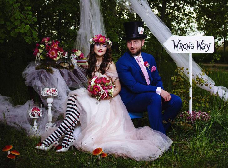 boda tema alicia en el país de las maravillas