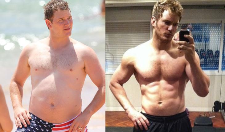 chris pratt antes y después
