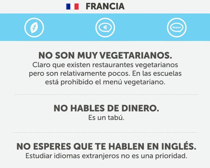 Cosas que no debes hacer en francia
