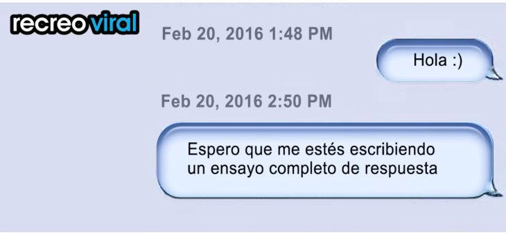 mensaje de texto no es respondido