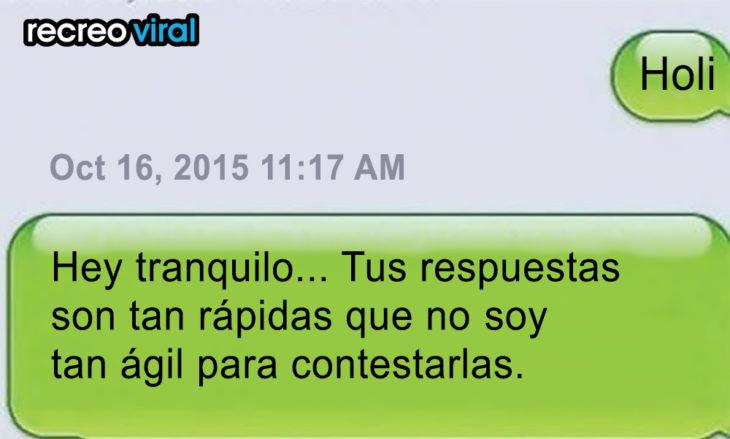 mensaje de texto no escribas tan rápido