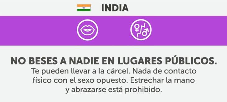 cosas que no debes hacer en india