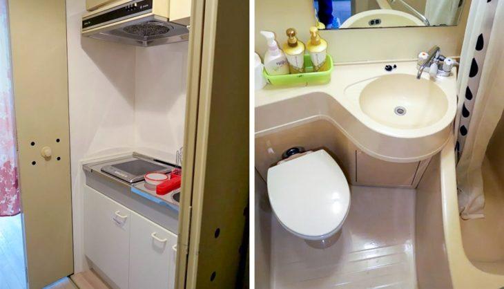 apartamento de banho no Japão