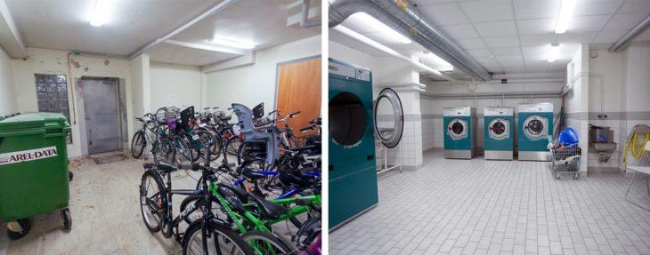 sala com bicicletas
