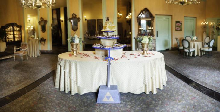 mesa de recepción legend of zelda