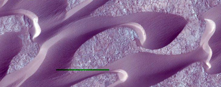 dunas moradas marte