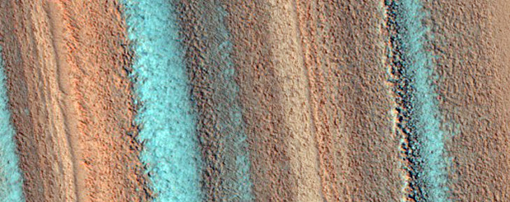 depósitos estratificados de marte