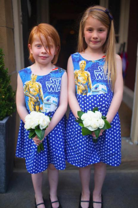 niñas de boda star wars