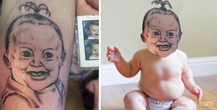 bebé tierno tatu