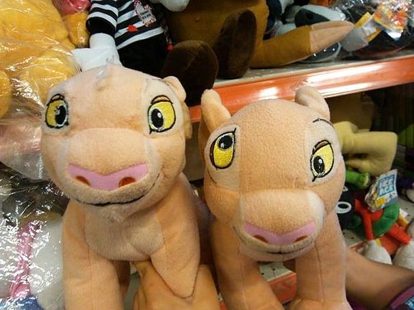 leones ojos raros