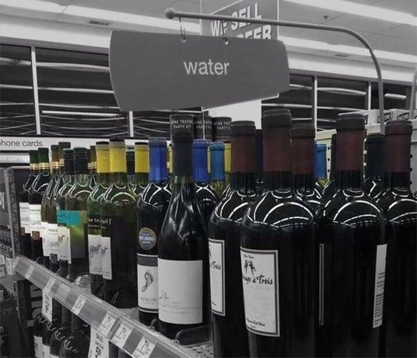 vino agua