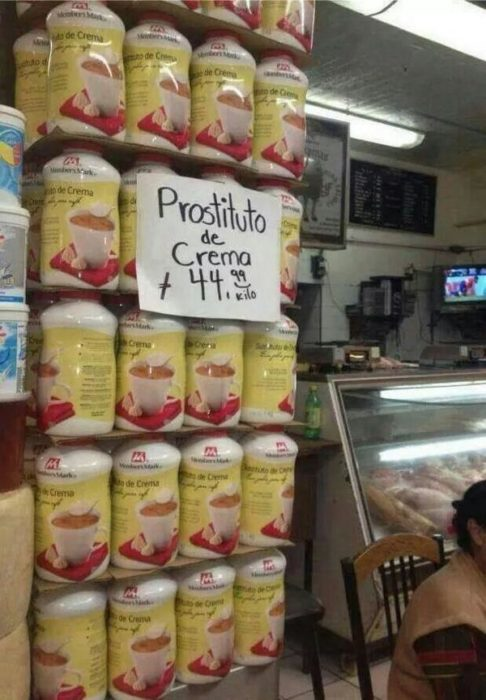 prostituto de crema