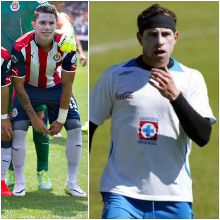futbolistas con bloqueador solar en la cara