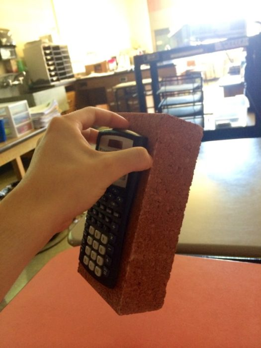 calculadora pegada aun ladrillo