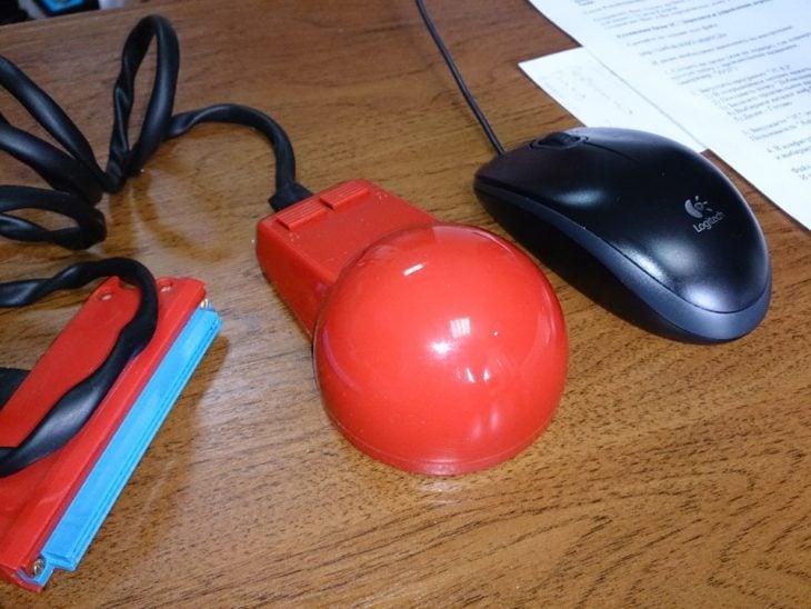 ratón de computadora antiguo y actual