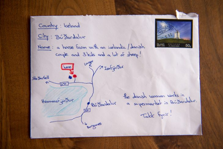 carta con mapa dibujao