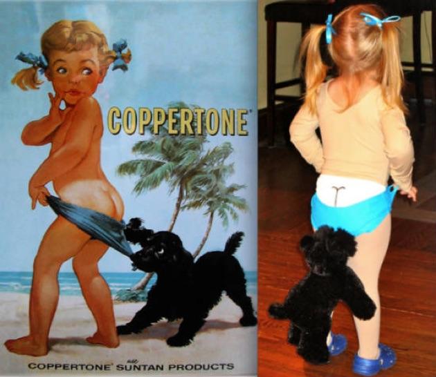 cosplay niña bronceador