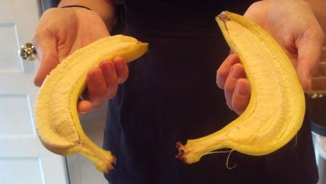 perfectas mitades de banana