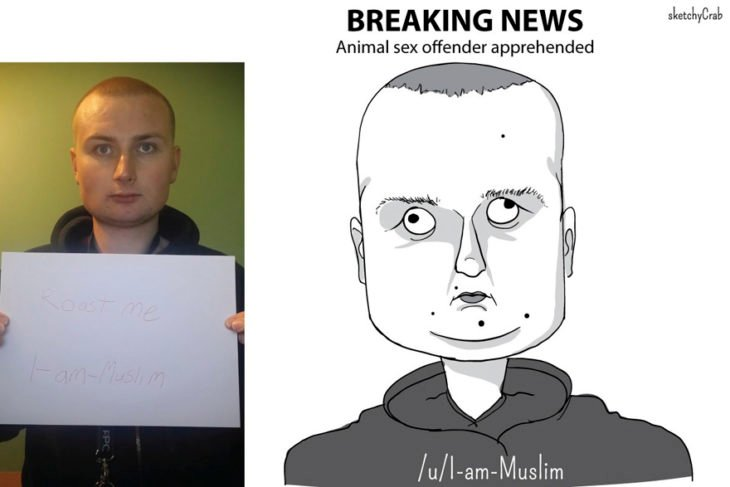 caricatura muchacho cabeza cuadrada