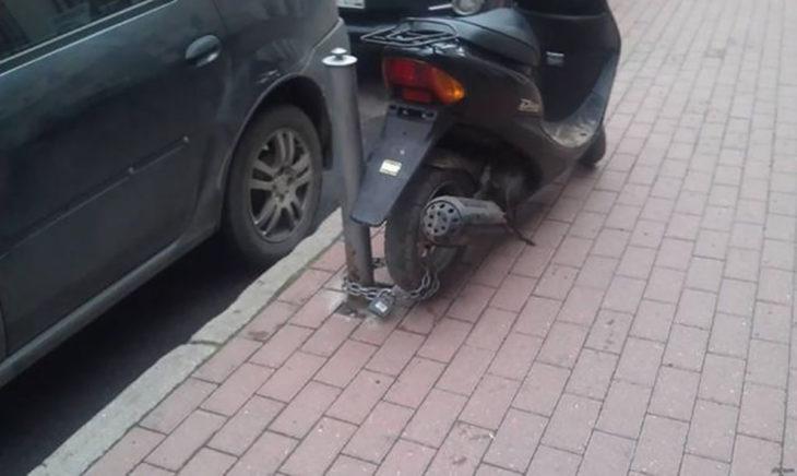 mala seguridad anti robo de motocicleta