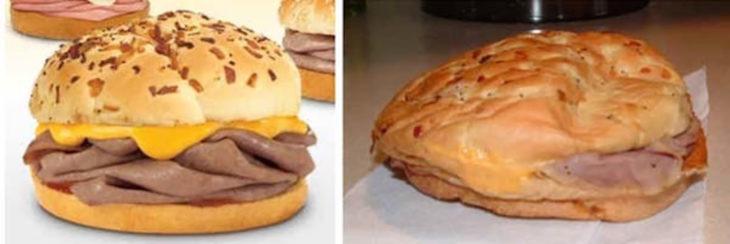 hamburguesa publicidad vs realidad