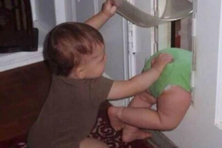bebés aventureros