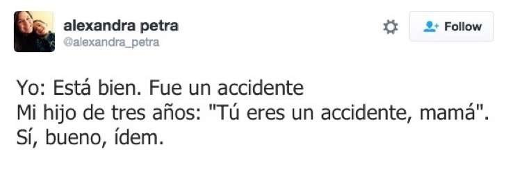 Tuit niño le dice a mamá que es un accidente