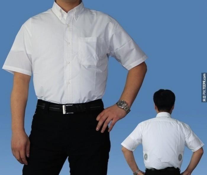 camisa con ventilación