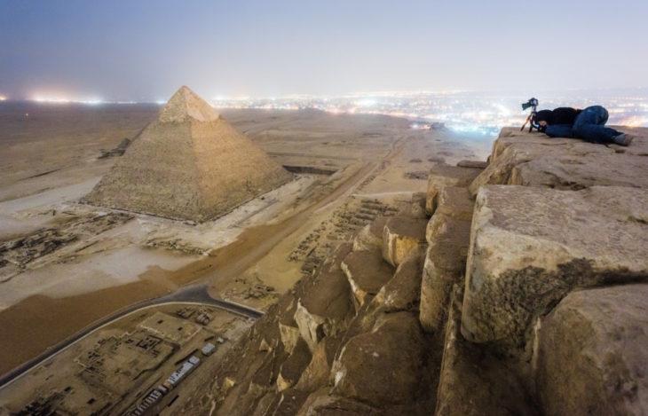 fotógrafa captura las pirámides de egipto
