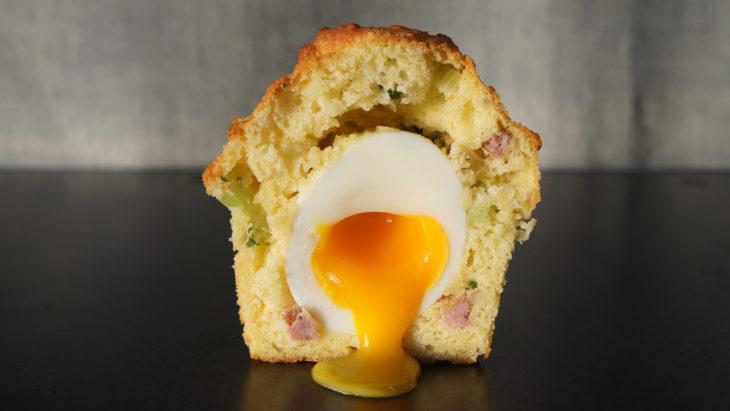 cupcake con huevo
