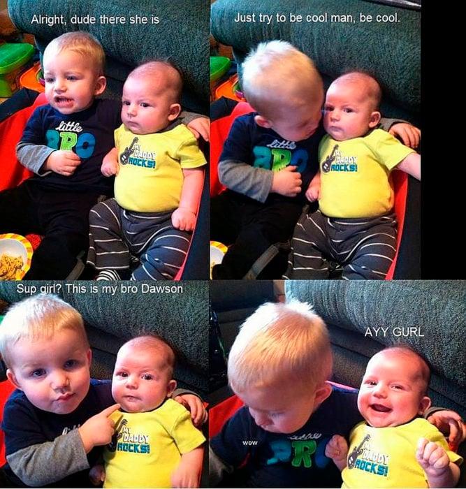 hermanos bebés
