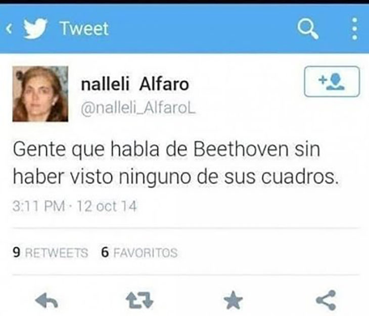 tuit sobre beethoven