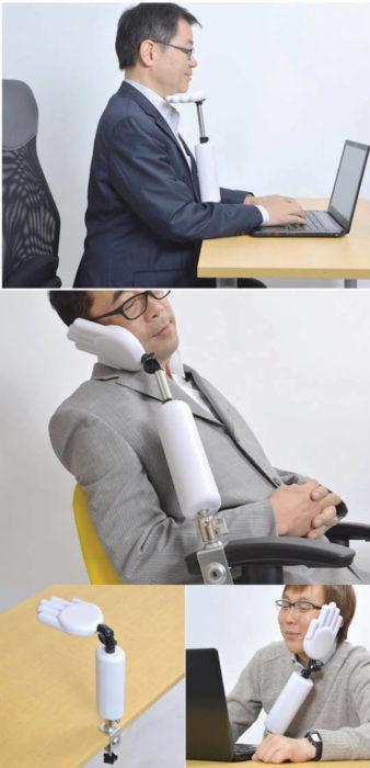 mano para descansar en la oficina