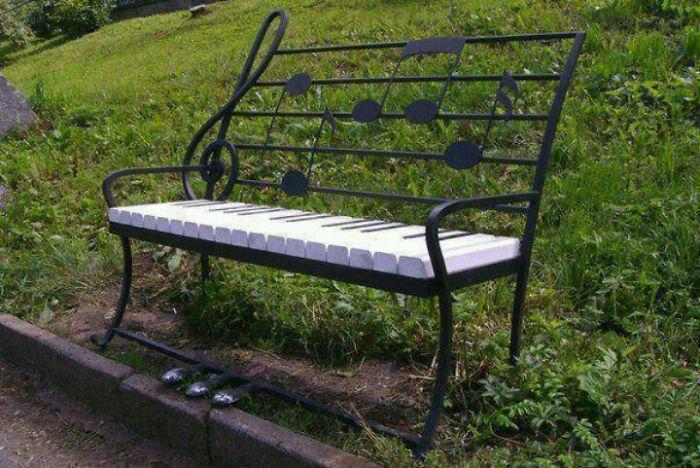 asiento en forma de piano