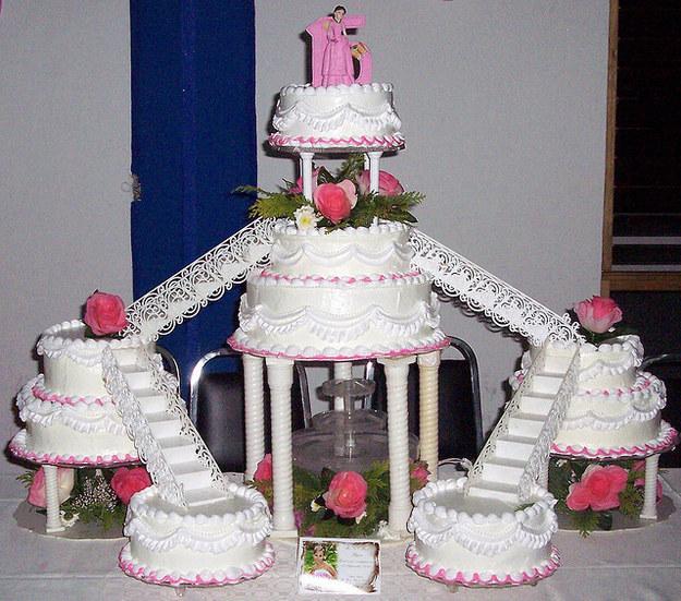 pastel gigante de quinceañera