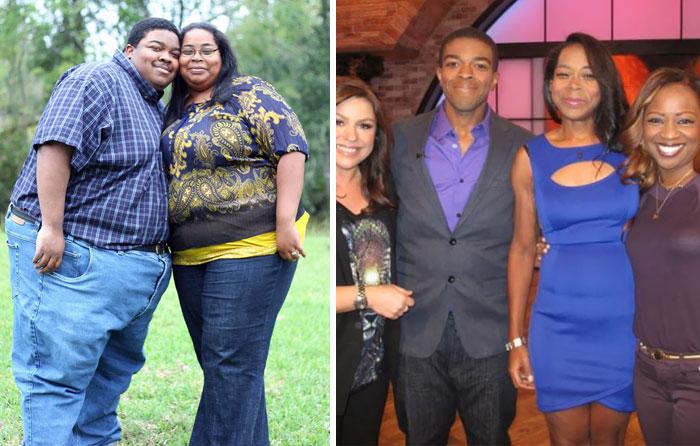esta pareja quedó irreconocible después de tantos kilos abajo