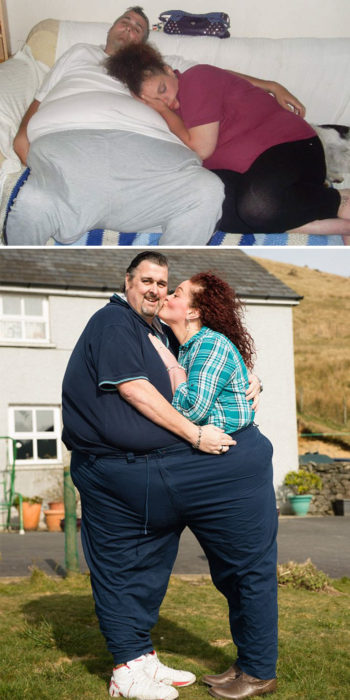 pareja que estaba harta de su vida