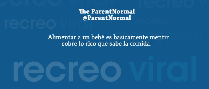 Tuits paternidad - alimentar a un bebé