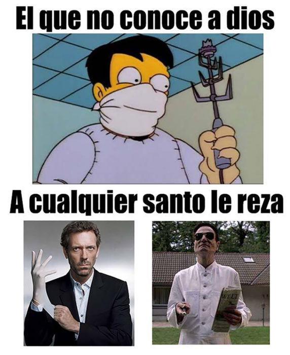 meme doctor de los simpson