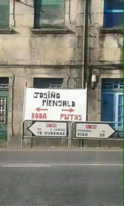 cartel joshiño piénsalo