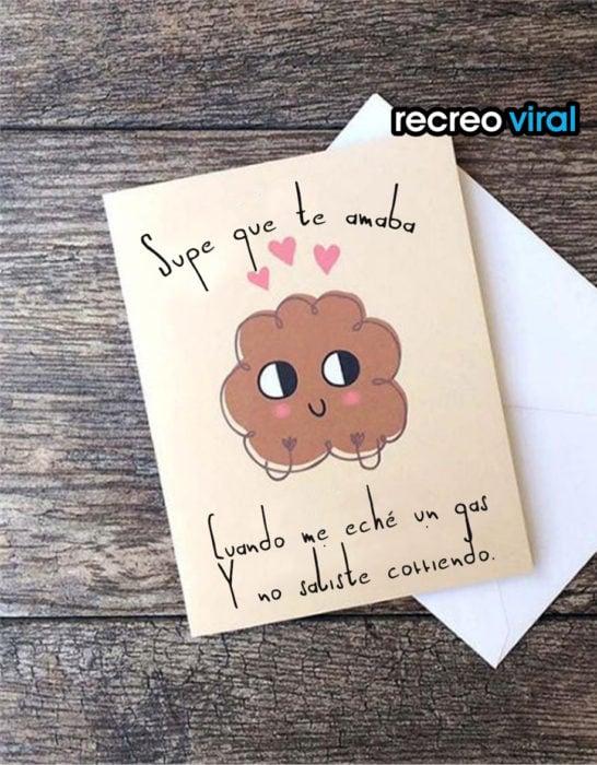 tarjeta de amor cómica