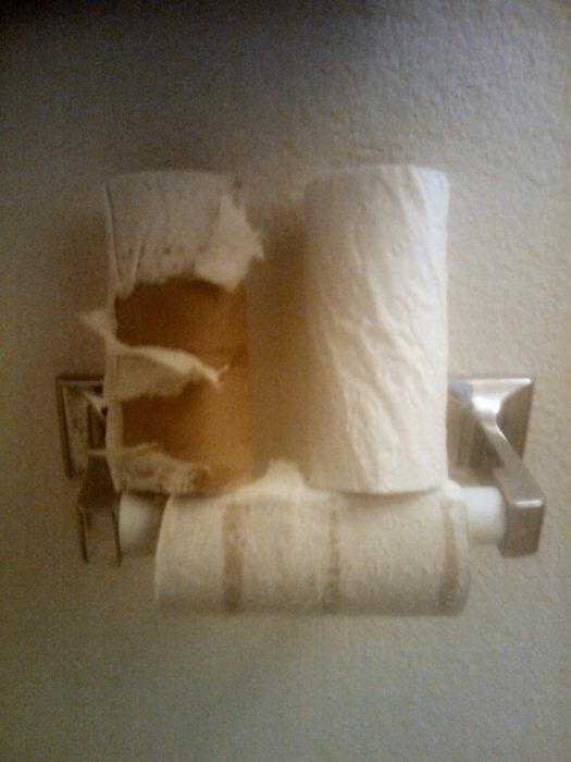 papel de baño, flojos