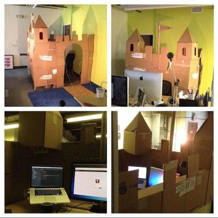 cubículo en forma de castillo