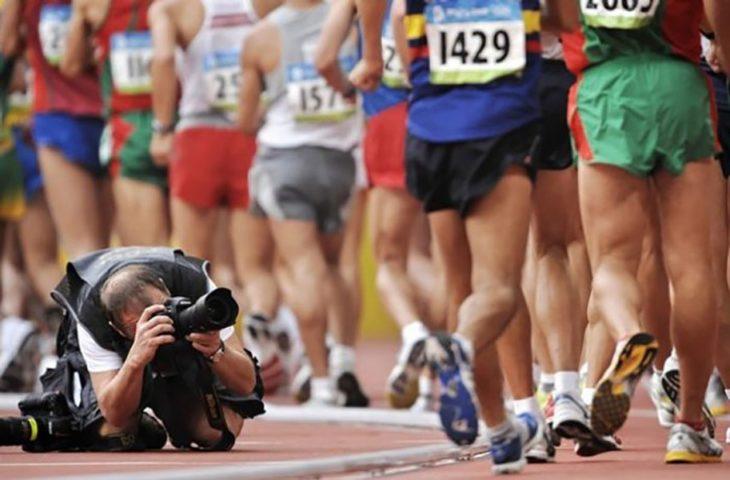 fotógrafo de carreras