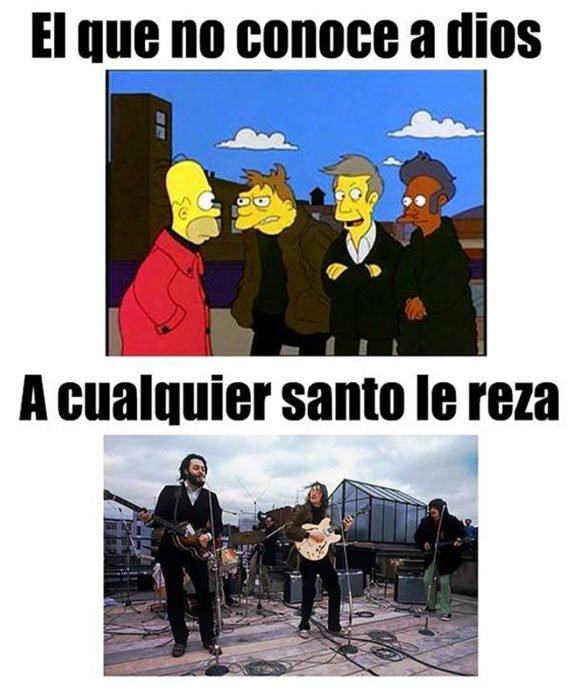 parodia simpson los beatles