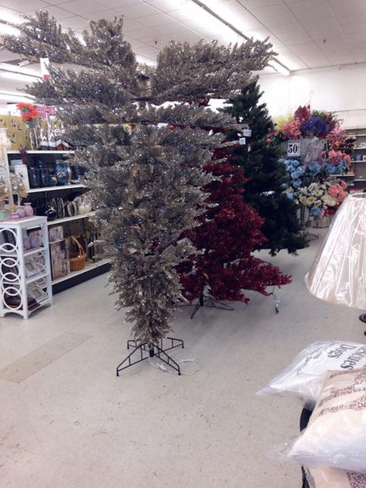 árbol de navidad al revés